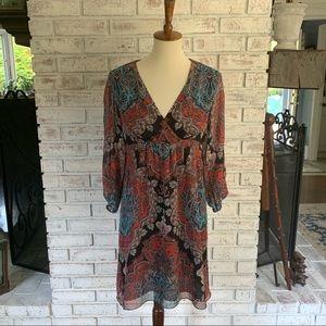 INC Paisley Printed Midi Dress